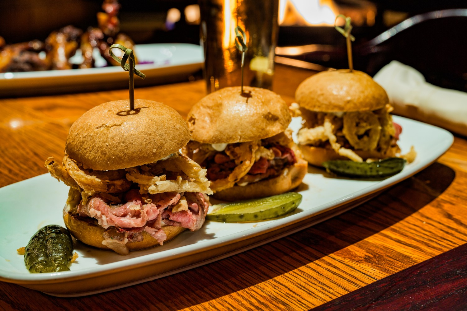 Barbecue sliders at a casual Big Sky, Montana, restaurant.
