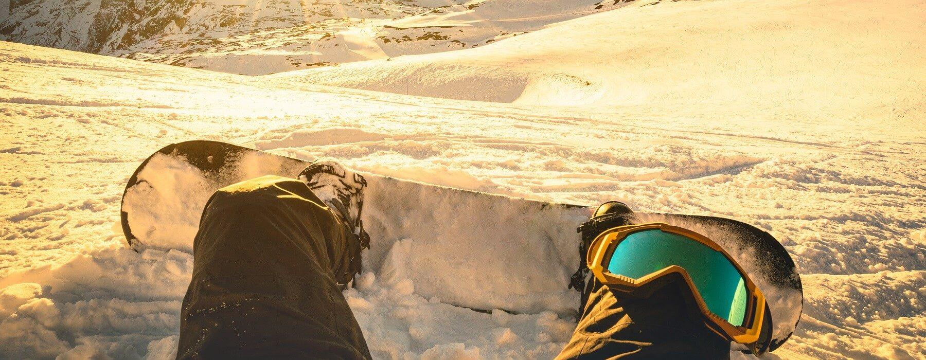 Snowboarding in Big Sky, Montana.