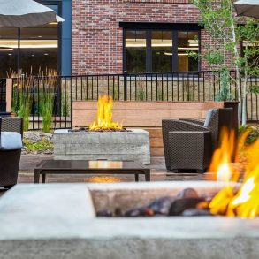 Outdoor Fire pits at The Wilson Hotel