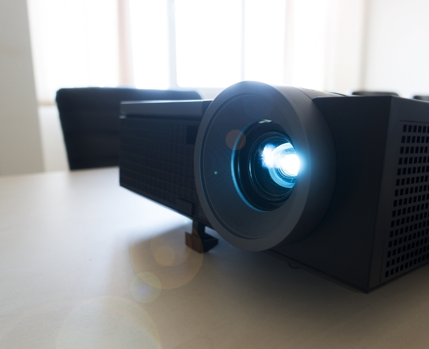 business meeting projector