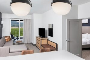 hotel suite with balcony